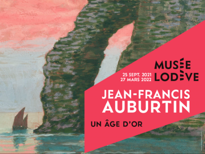 Affiche de l'exposition Jean-Francis Auburtin - © Musée de Lodève