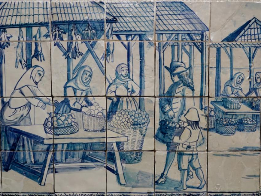 Marché de Lisbonne, première moitié du XVIIIè siècle - © Museu de Lisboa