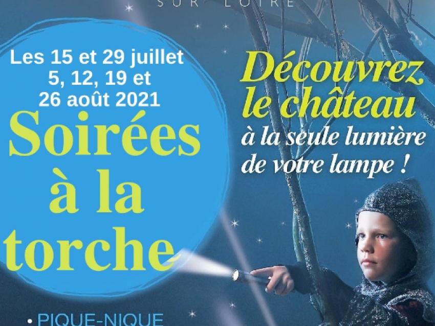 Les Soirées à la torche ! - © Château de Meung sur Loire