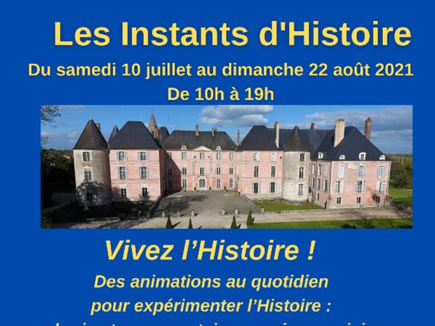 Affiche les Instants d'Histoire - © Château de Meung sur Loire