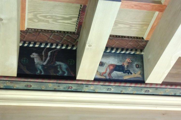 Plafond peint à Lagrasse - © Plafond peint Lagrasse_PTCM