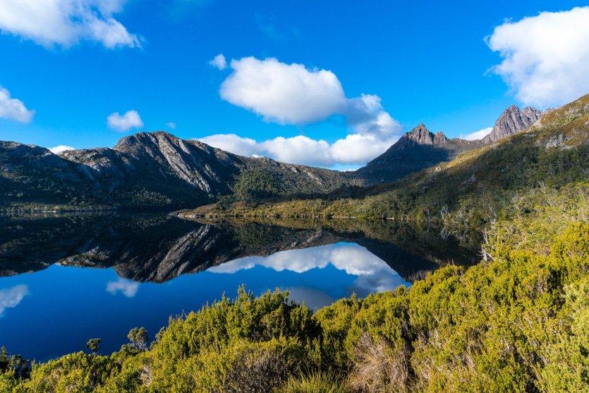Cradle Mountain, dans le parc national du Lac Saint Clair en Tasmanie.