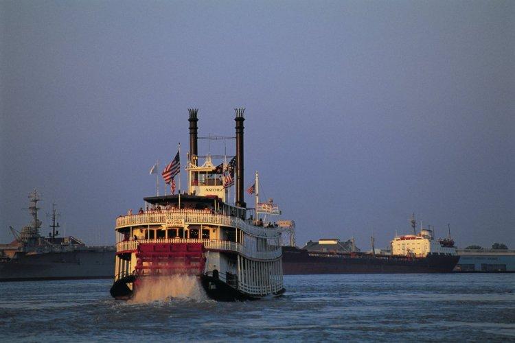 Bateau à roue sur le Mississippi. - © Tom Pepeira - Iconotec