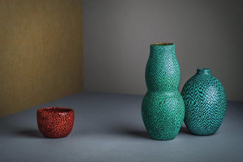 Paolo Venini, Vase en motif damier.