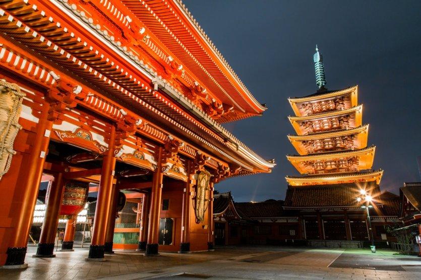 Le Kaminarimon est la principale voie d'accès au temple Senso-Ji. - © Pusa10