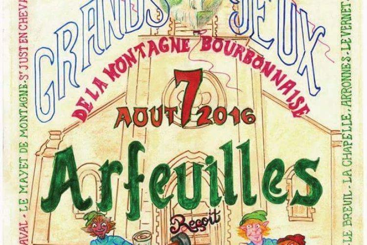 Affiche 51è Grands Jeux de la Montagne Bourbonnaise - © Michel GRANSEIGNE