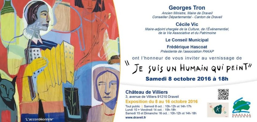 Vernissage le 8 octobre à 18H00