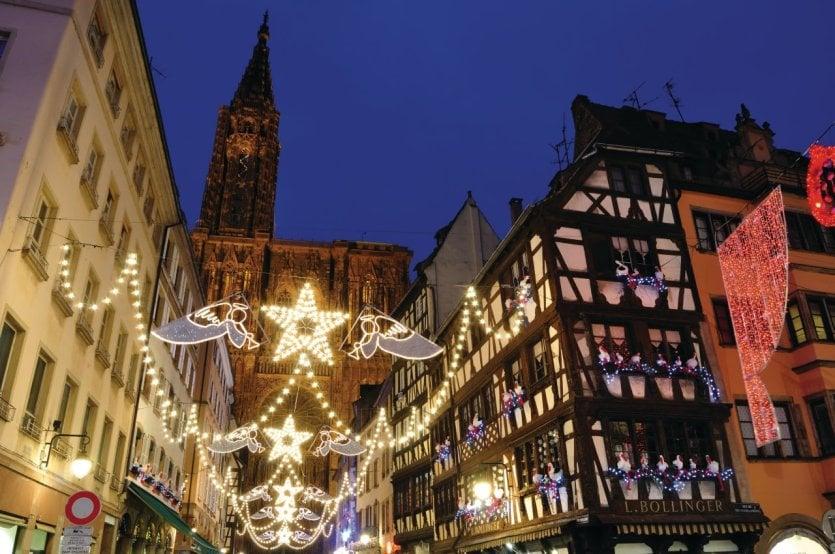 Illuminations de Noël à Strasbourg.