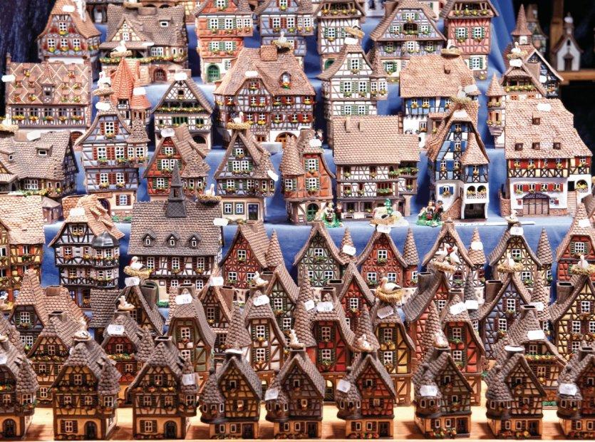 L'alsace en petit - marché de Noël à Strasbourg