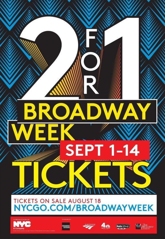 Affiche de la Broadway Week 2014. - © DR.