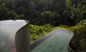 Les piscines superposées au cœur de la jungle à Bali