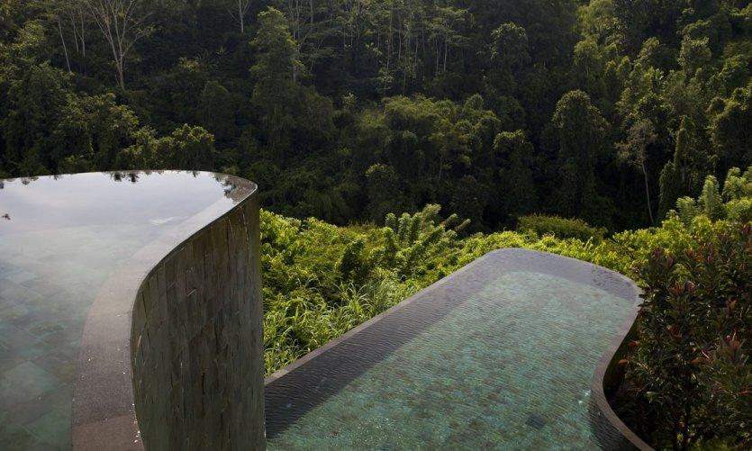 Les piscines superposées au cœur de la jungle à Bali