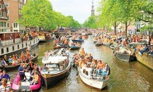 La fête du Roi à Amsterdam.