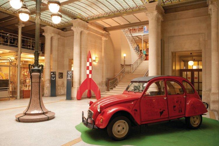 Hall d'entrée du Centre belge de la bande dessinée. - © Author's Image