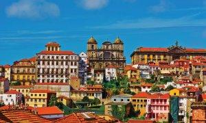 Vue sur le centre historique de Porto.