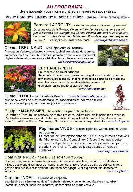 Rendez-vous aux jardins 2017 aux jardins de la Poterie Hillen