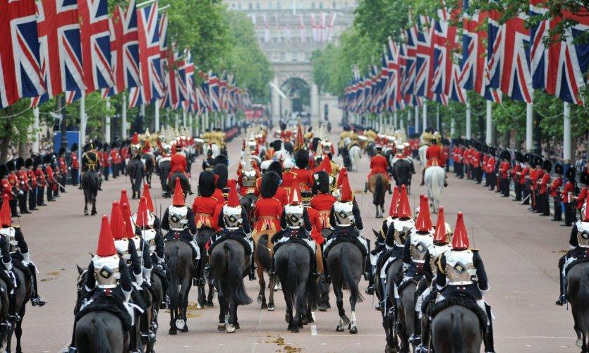 Parade royale à Londres.