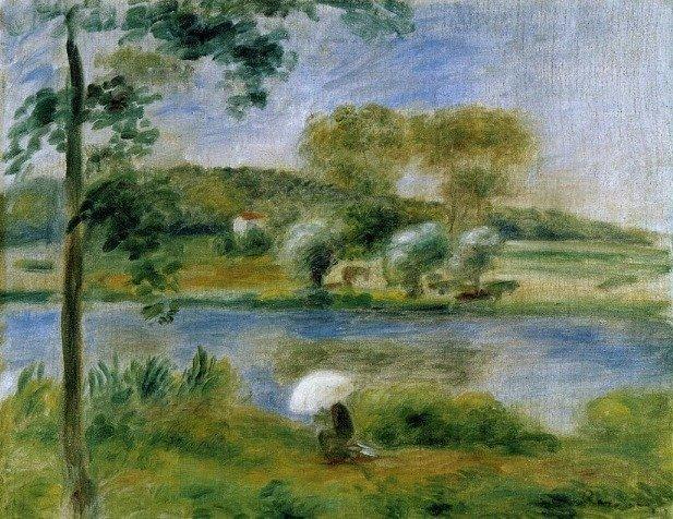 Les banques de la Rivière, Auguste Renoir - © DR