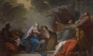 La Pentecôte, esquisse, 1772 Huile sur toile H. 0,520 ; L. 0,680 Bruxelles, collection particulière.