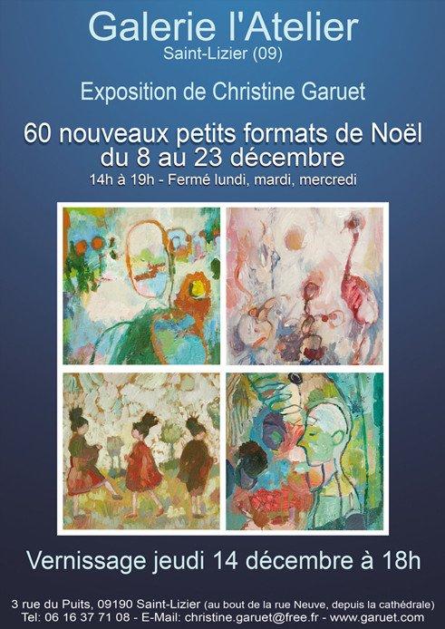 Exposition de Noël à la Galerie l'Atelier, Saint-Lizier (Ariège)