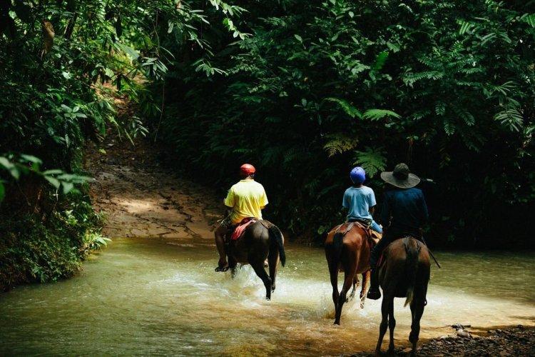 Lors des balades à cheval. - © La Mariposa