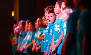 Le Choeur battant réunissant 200 écoliers
