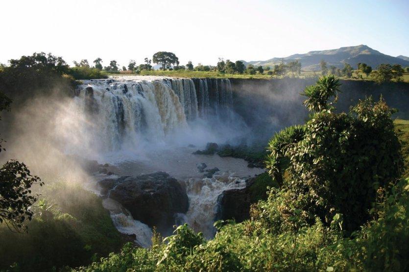 Les chutes du Nil Bleu.