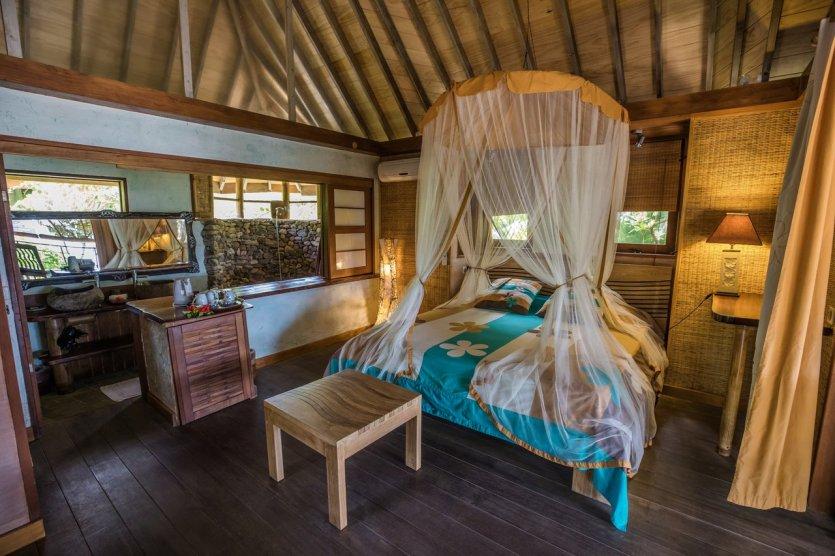 Le bungalow plage Tahinu - © Green Lodge