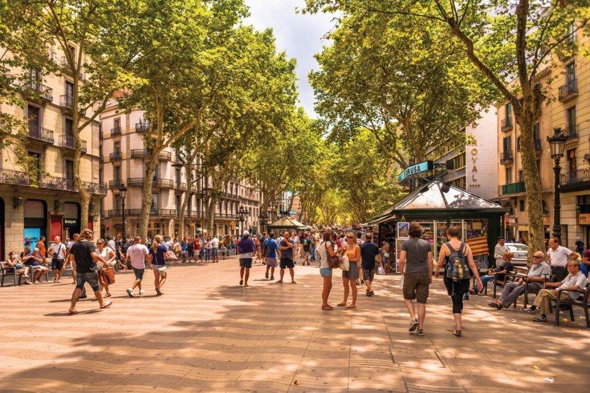 Las Ramblas, Barcelone.
