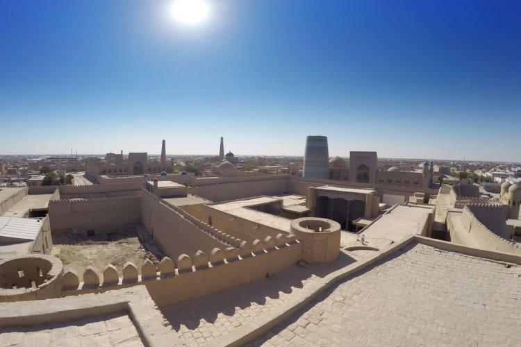 Vue aérienne de la vieille ville de Khiva. - © KKulikov - Shutterstock.com
