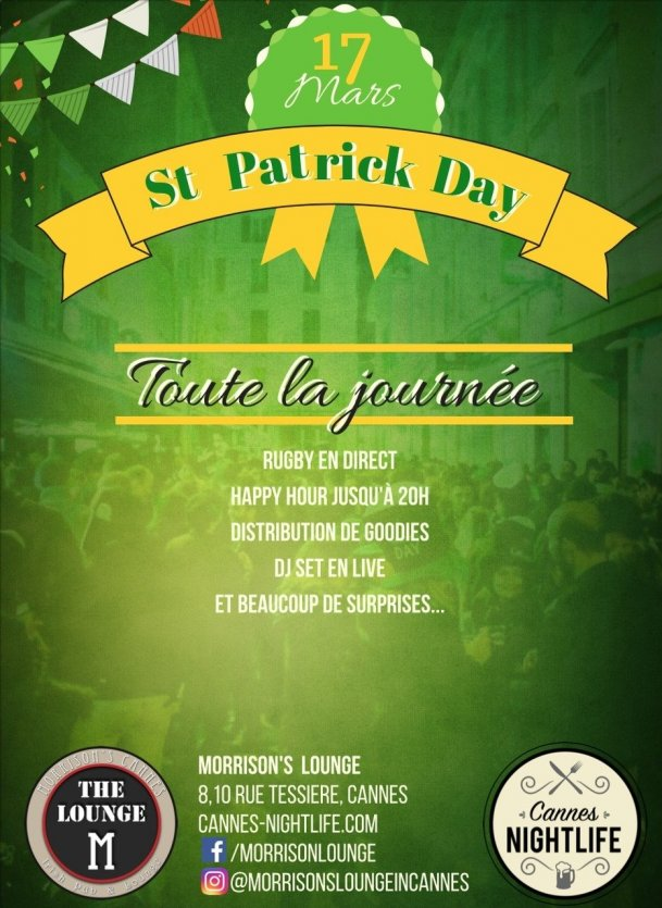 St Patrick's Day au Lounge