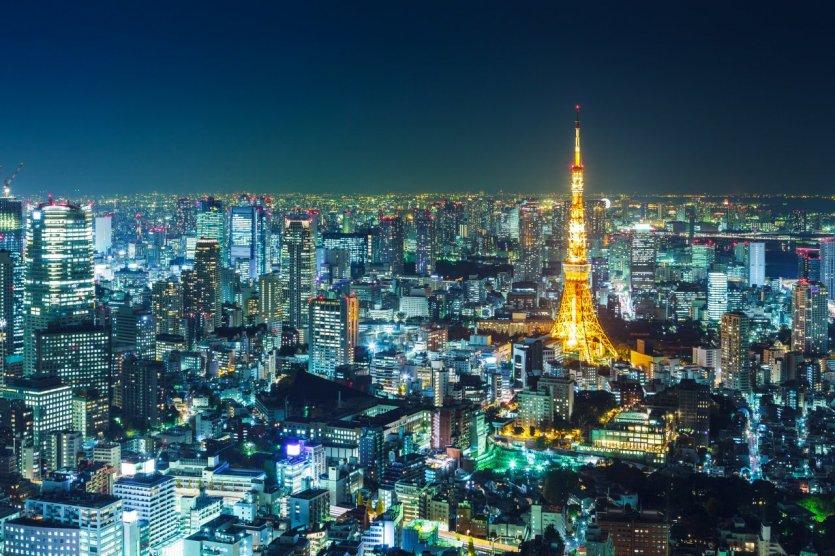 Vue de Tokyo la nuit.