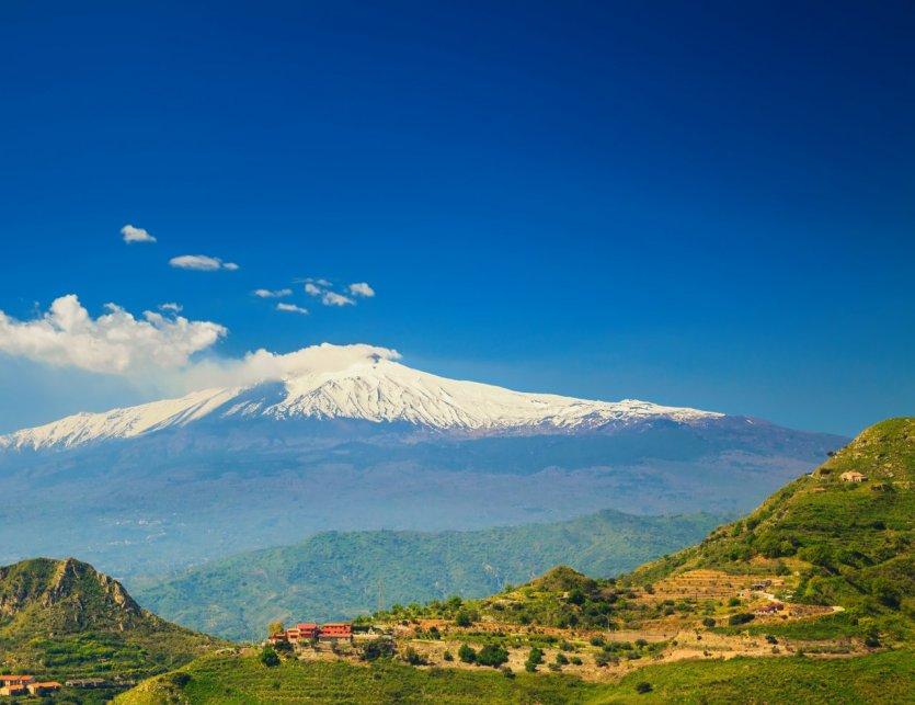 L'Etna, le volcan le plus haut d'Europe.