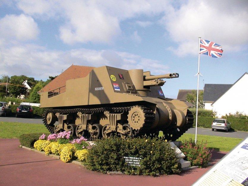 Le canon automoteur Sexton - Musée America - Gold Beach