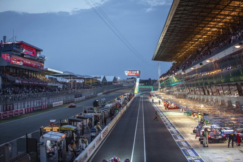 Circuit des 24 heures du Mans.