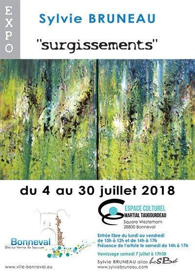 """Exposition """"surgissements"""", Sylvie BRUNEAU alias heSBé,  Artiste plasticienne"""