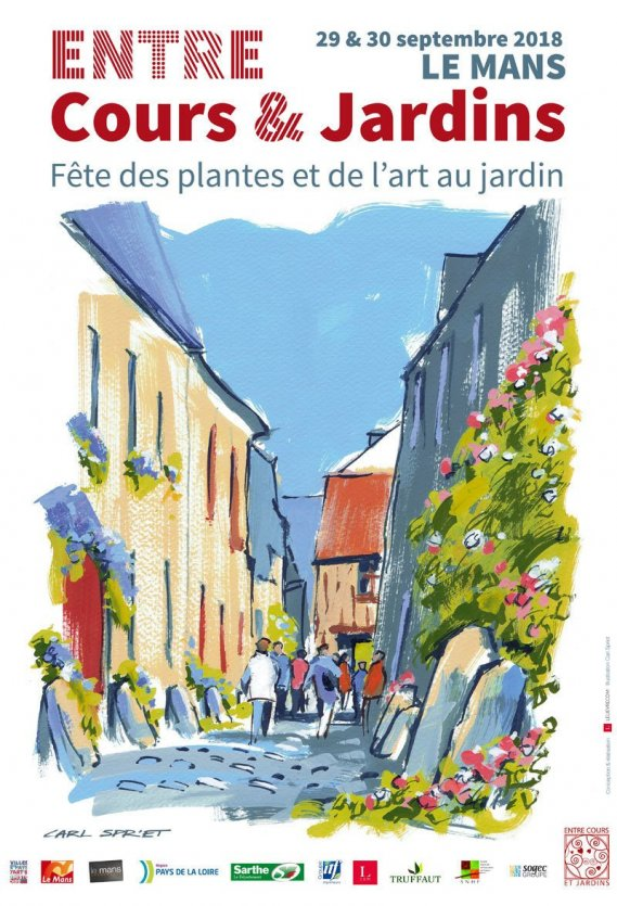 Affiche 2018 - © Entre Cours & Jardins