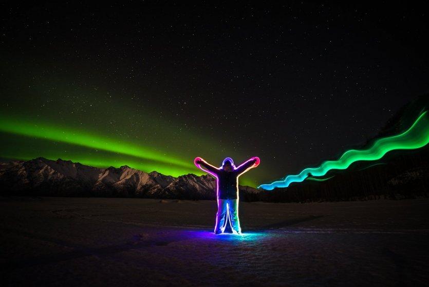 Alaska - Aurores jeu de lumières - © Elisa VALLON