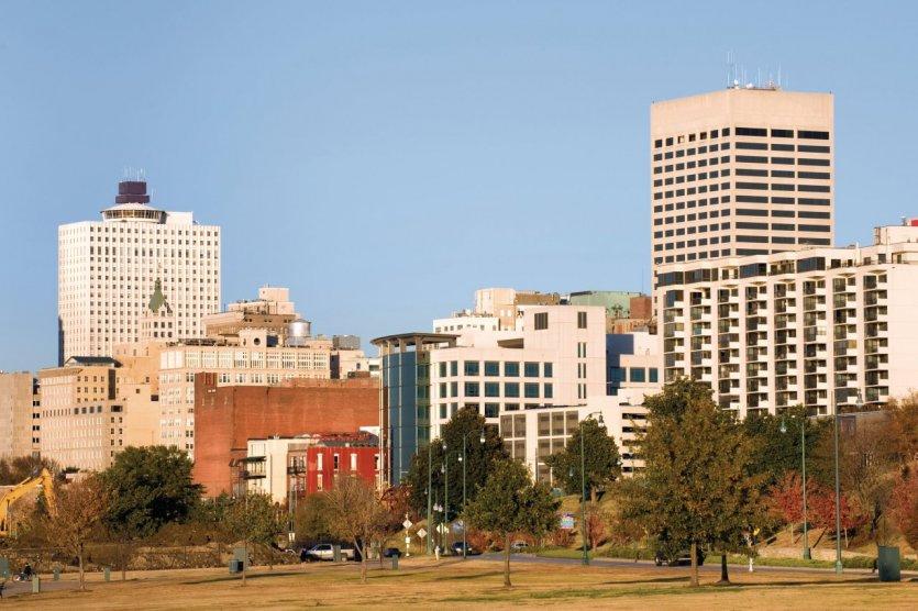 Ville de Memphis depuis Tom Lee Park.