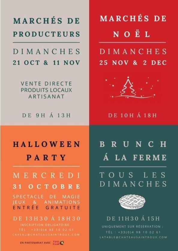 Programme d'automne au Château Saint-Roux - © Château Saint-Roux