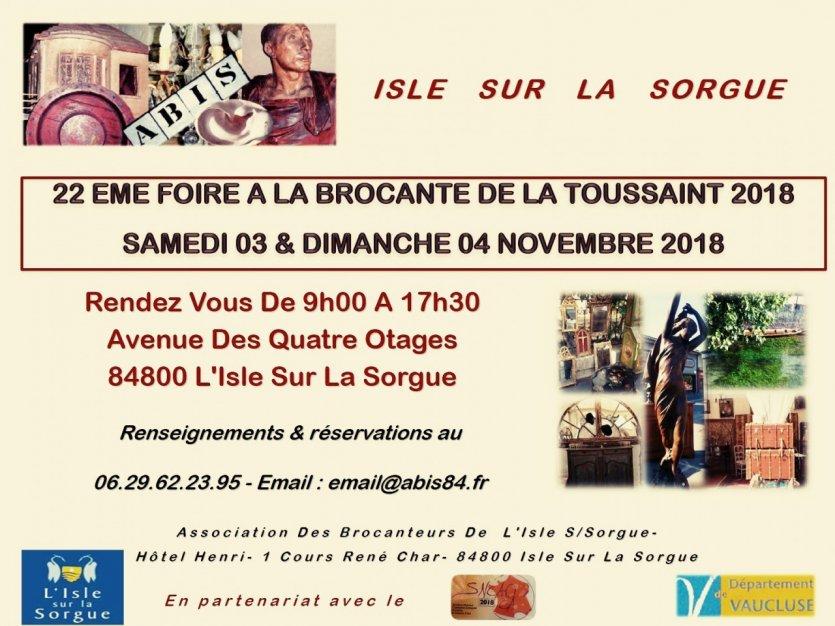 Foire à la Brocante de la Toussaint 2018
