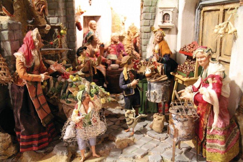 Santons et crèches de Noël  - Page 4 079509-naples-la-vie-napolitaine-d-antan