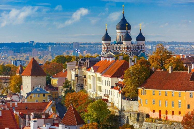 Vue aérienne de la Vieille-Ville de Tallinn - © Kavalenkava Volha