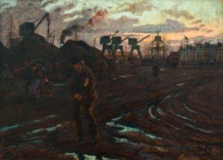 Raoul DUFY (1877-1953), Fin de journée au Havre, 1901, huile sur toile, 99  x 135 cm. - © MuMa Le Havre / David Fogel - ADAGP, Paris, 2014