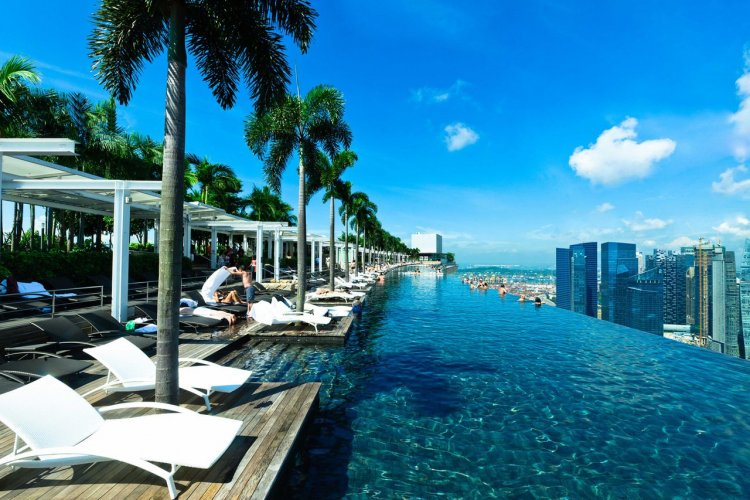 La piscine du Marina Bay Sands, Singapour - © Marina Bay Sands