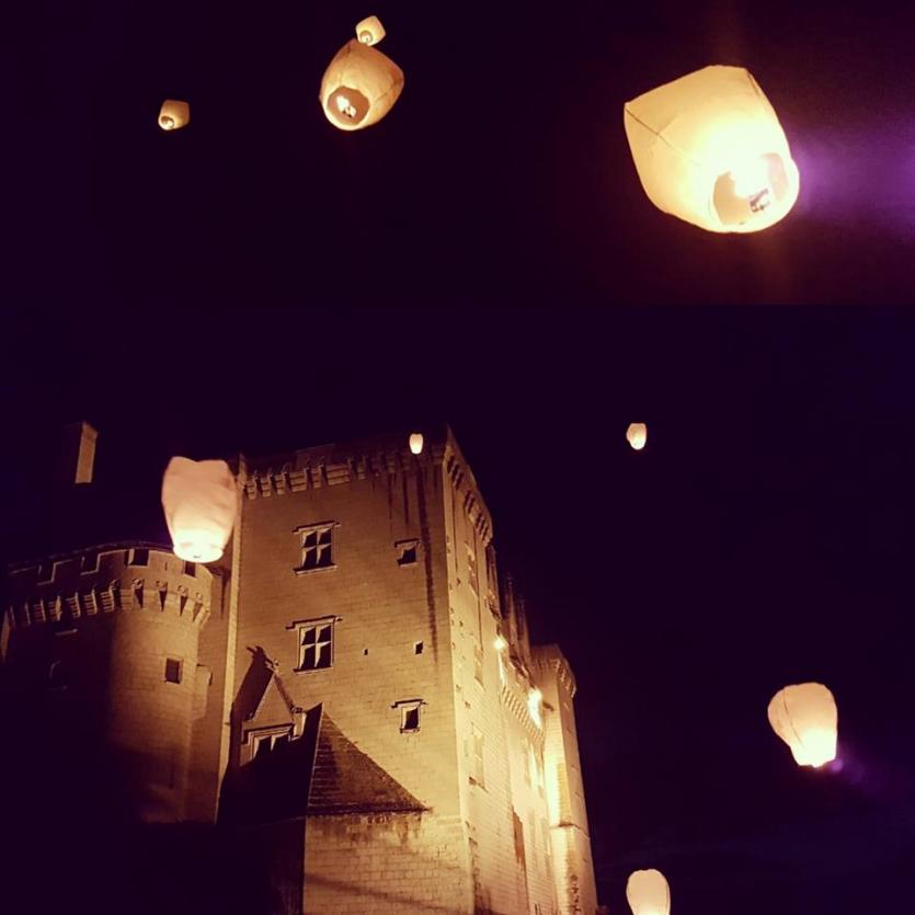 Lâcher de lanternes célestes. Chateau de Montsoreau-Musée d'art contemporain