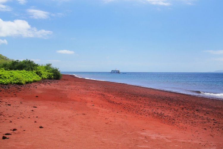 Plage rouge de l'île de Rabida, Galapagos - © Don Mammoser - Shutterstock.com