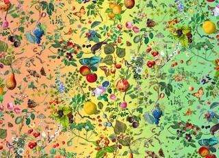 Fruits from the Garden and the Field, rainbow wallpaper (detail). - © Fallen Fruit, 2019.