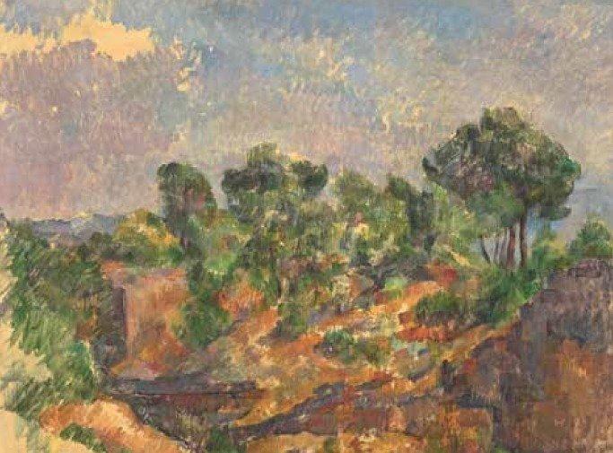 Paul Cézanne (1839-1906), Bibémus, vers 1894-1895, huile sur toile, 71,4 x 90,1 cm - © Solomon R. Guggenheim Museum, New York, Thannhauser Collection, don Justin K. Thannhauser