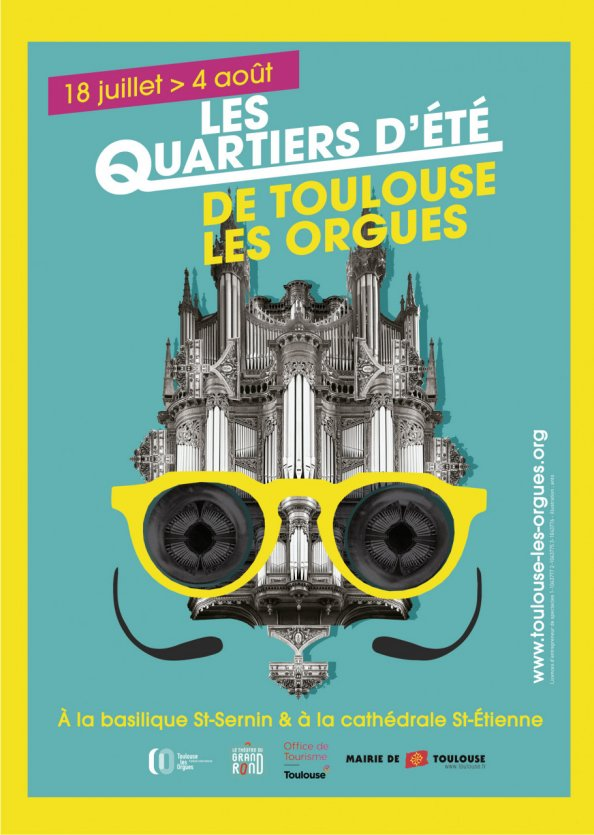 Affiche Quartiers d'Été de Toulouse les Orgues